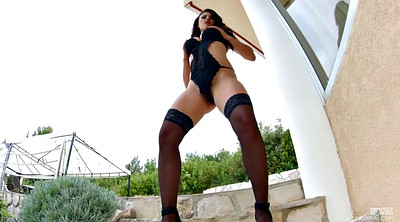 Stocking, Posing, Stockings solo, Black stocking