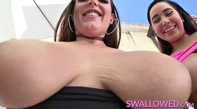 Angela white, Karlee grey, Swallowing, Deepthroat swallow, Angela