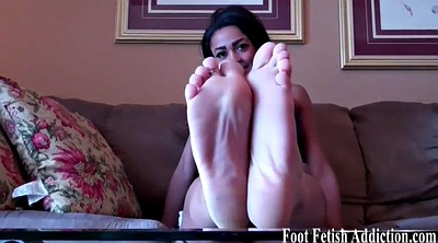 Jerking off, Femdom foot, Toes