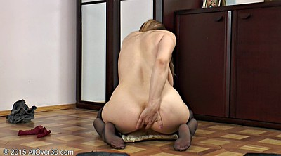 Stockings masturbation