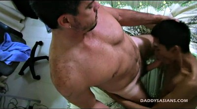 Asian boy, Vintage interracial