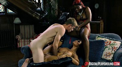 Interracial anal, Black creampie