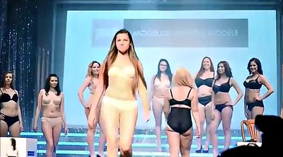 Nude, Big bbw, Fashion show, Fashion