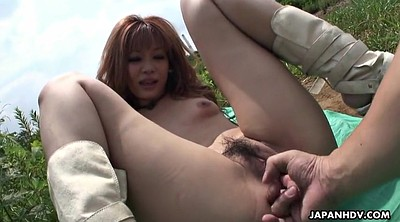 Japanese outdoor, Asian creampie, Field