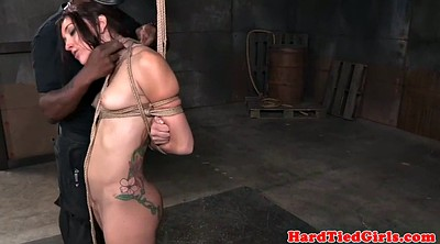 Tied up, Pierced pussy, Pierce