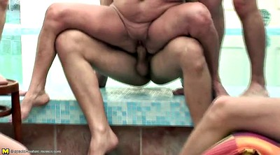 Pee, Pissing sex, Old couple, Mature group, Granny pissing
