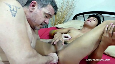 Asian old, Mike, Asian daddy, Young asian, Ass licking, Asian gay