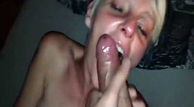 Old, Skinny, Blonde mature, Sloppy blowjob, Skinny blonde mature, Facefucking