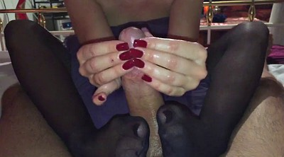 Nylon, Nylon footjob, Nylon foot