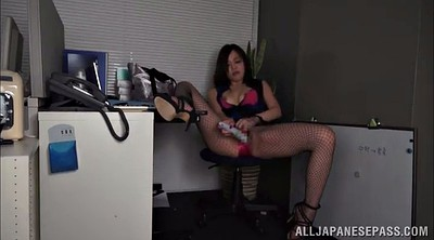 In pantyhose, High heels, Hypnotized, Asian office, Pantyhose office, Office solo