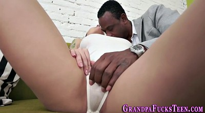 Facial, Interracial granny, Old hd