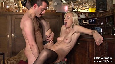 French, Cum in mouth, French mature