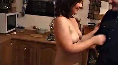 Kitchen, Homemade blowjob, Busty mom