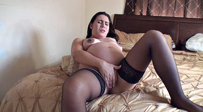 Bbw solo, Preggo, Stockings solo, Stockings masturbating, Pregnant bbw