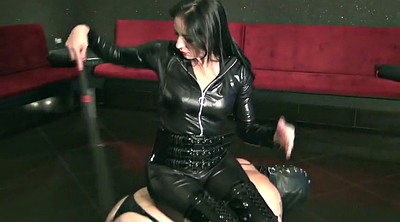 Whipping, Male slave, Femdom whipping
