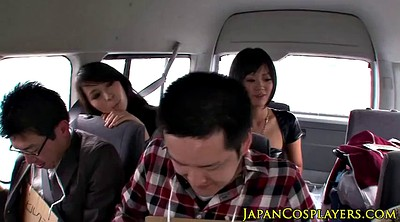 Leather, Japanese group, Japanese busty, Big tits japanese, Japanese group sex, Japanese cumshot