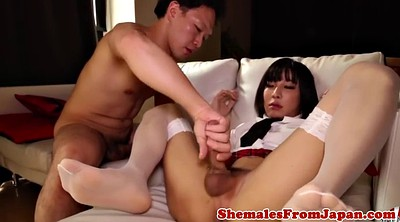 Ladyboy, Schoolgirl blowjob, Asian masturbation, Asian close up, Schoolgirl anal, Asian ladyboy