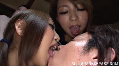 Swallow, Love, Cum tits, Asian group