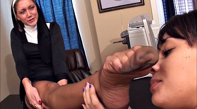 Feet, Office lesbian, Lesbian office, Nuns