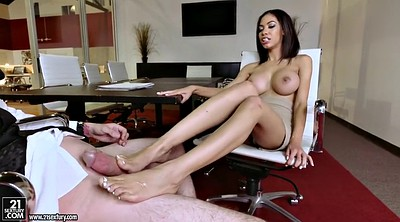 Shay, Feet licking, Ebony feet, Divine, Feet lick, Big tits handjob