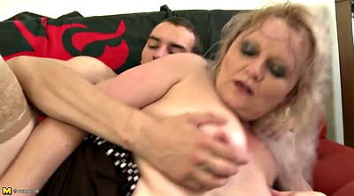 Old and young, Boy, Mom blowjob, Mom boy