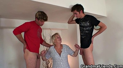 Old and young, Granny and boy, Teen orgy