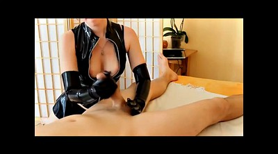 Latex, Gloves, Glove, Femdom handjob, Latex gloves