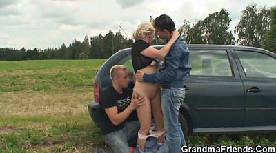 Street, Granny boy, Old and young, Milf and boy, Grandmother
