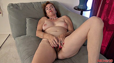 Mature solo, Hairy mature masturbation, Hairy mature