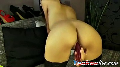 Wet, Dildo masturbation, Big butt solo