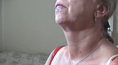 Upskirt, Aunty, Swallow cum, Cum swallowing, Auntie