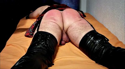 Crossdress, Spanking punishment, Punish