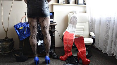 Pantyhose, Boots, High heels, Gay pantyhose