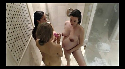Nude, Pregnant lesbian