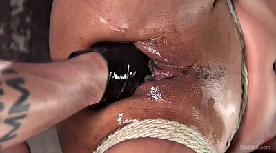 Squirting, Bdsm squirt, Peeing, Black bondage, Fisting orgasm, Fisted