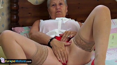 Granny solo, Seduction, Grandma, Masturbating solo