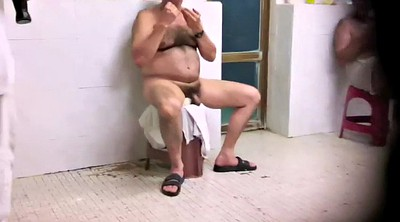 Daddy old, Shaved, Public shower