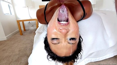 Deep throat, Crazy, Throat, Asian cumshot, Asian fuck