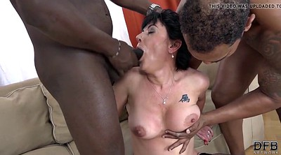 Mature double penetration, Interracial mature