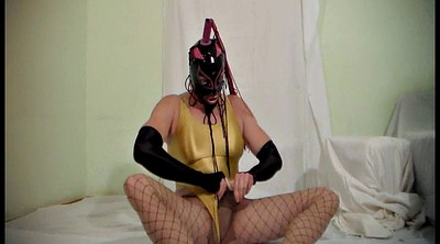 Pantyhose, Pantyhose fetish, Latex, Pantyhose cum, Mask