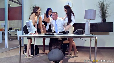 Gangbang, Office, Secretary, Riley reid, Janice