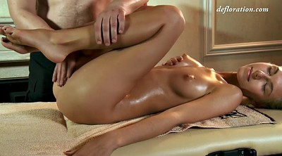 Oil massage, Beautiful