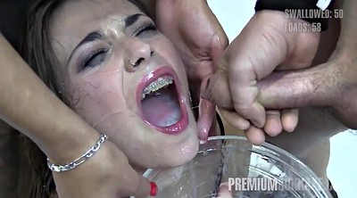 Swallow, Young bukkake, Huge load