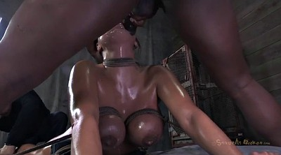 Tied tits, Tied and fucked, Interracial bondage, Black bondage
