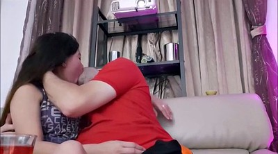 Chinese, Creampie, Romantic, Asian creampie, Kissing, Fast
