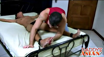 Tickling, Tickled, Tickle, Asian old, Asian daddy