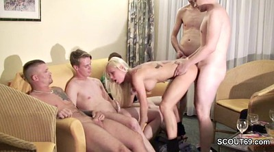 Teen gangbang, Teen bukkake, German office