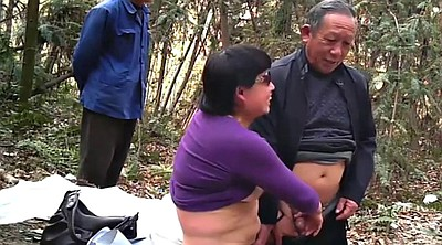 Asian granny, Asian mature, Forest, Mature asian