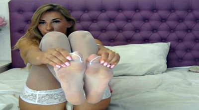 White stockings, Nylon foot, Foot stocking
