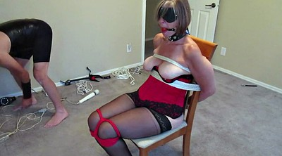 Tied, Mature wife, Chair